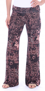 Print Palazzo Pants - Made in USA - ST16