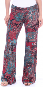 Print Palazzo Pants - Made in USA - ST17