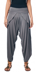 Womens Modern Harem Culotte Pants - Wide Leg Capri Yoga Gaucho Pants - Made In USA