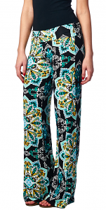 Print Palazzo Pants - Made in USA - ST25
