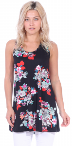 Floral Print Summer Tank ( S - 3X ) - DT04