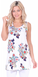 Floral Print Summer Tank ( S - 3X ) - DT05