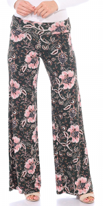 Print Palazzo Pants - Made in USA - ST102