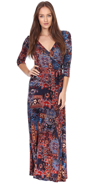 Maxi Dress With Sleeves - Casual Colorful Floral Summer Wedding Prints - Made In USA - ST18
