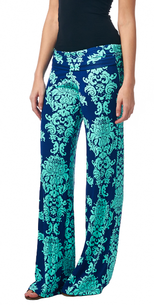 Print Palazzo Pants - Made in USA - ST15