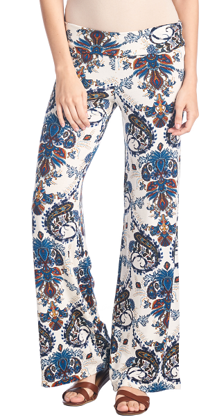 Print Palazzo Pants - Made in USA - ST49