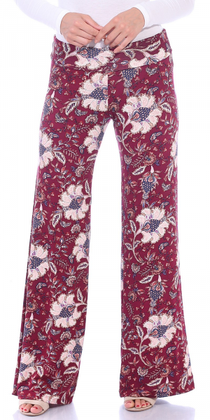 Print Palazzo Pants - Made in USA - ST100