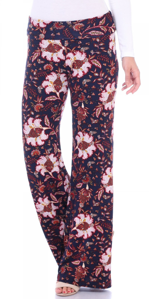 Print Palazzo Pants - Made in USA - ST101