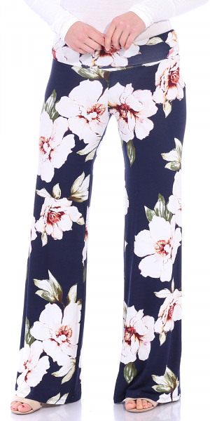Print Palazzo Pants - Made in USA - ST84