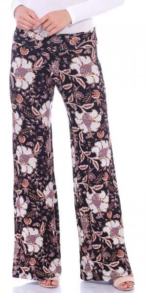 Print Palazzo Pants - Made in USA - ST99