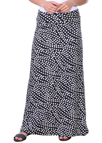 Comfortable Fold-Over Maxi Skirt - Made in USA - DT22