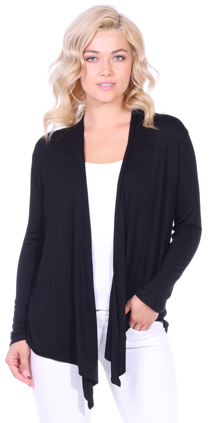 itm draped cardigan drapes sweater zeagoo front womens s pockets long women w sleeve open