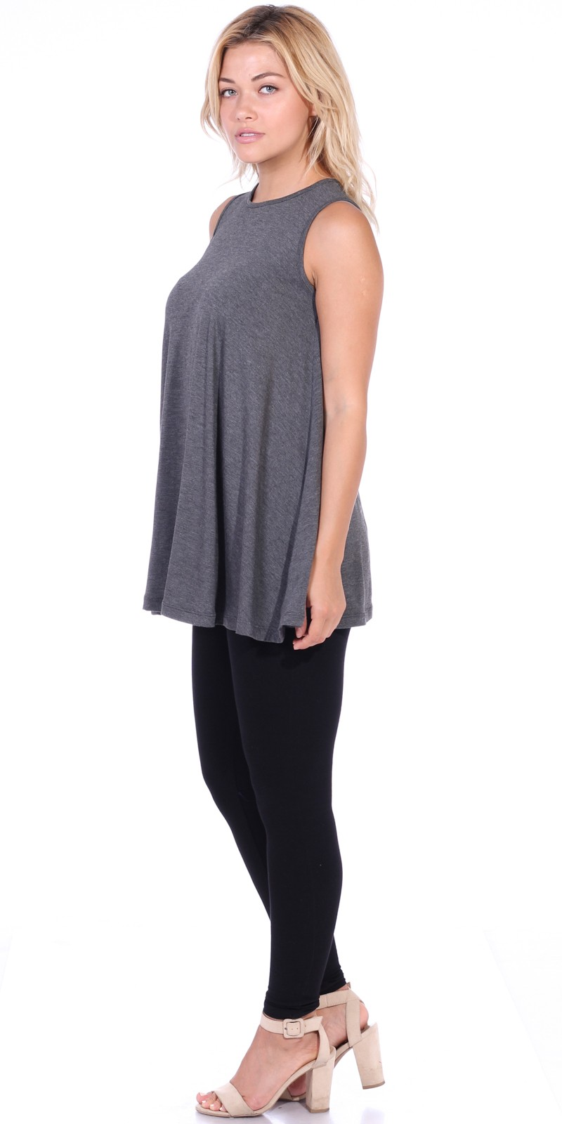 Description & Details. Designed to flatter with easy, pull-on styling, a slimming front-contour waistband, all-around elastic and wide hems with side slits.