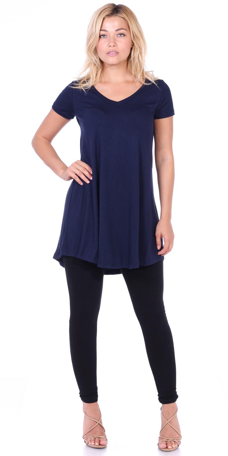 Navy Blue Dress with Leggings