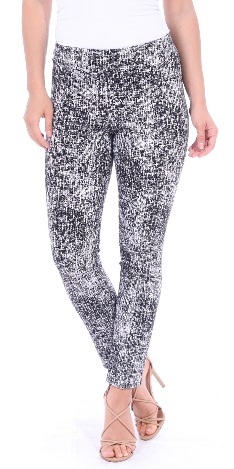 Pull On Pants For Women Ankle Length - Casual Mid Rise Stretch Office Work Pants - M6