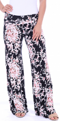 Print Palazzo Pants - Made in USA - ST57