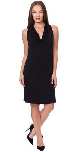 Cowel Neck Dress - Made in USA - Black