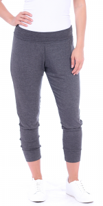 Women's Harem Pants Cropped Jogger Style Ankle Length Sweatpants - Made In USA - Charcoal