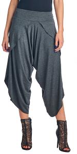 Womens Modern Harem Culotte Pants - Wide Leg Capri Yoga Gaucho Pants - Made In USA