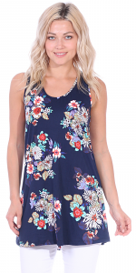 Floral Print Summer Tank ( S - 3X ) - DT07