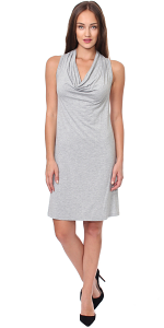 Cowel Neck Dress - Made in USA - HGray