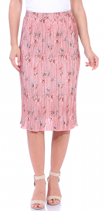 Floral Pleated Midi Skirt - Made in USA - P1