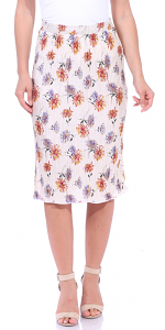 Floral Pleated Midi Skirt - Made in USA - P2
