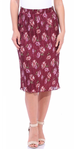 Floral Pleated Midi Skirt - Made in USA - P3