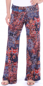 Print Palazzo Pants - Made in USA - ST18