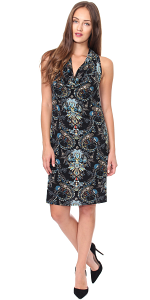 Cowel Neck Dress - Made in USA - ST24