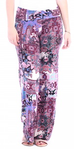 Print Palazzo Pants - Made in USA - ST37