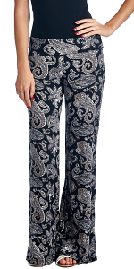 Print Palazzo Pants - Made in USA - ST44