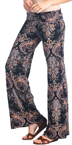 Print Palazzo Pants - Made in USA - ST48
