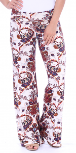 Print Palazzo Pants - Made in USA - ST50