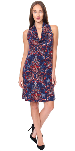 Cowel Neck Dress - Made in USA - ST55