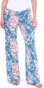 Print Palazzo Pants - Made in USA - ST60