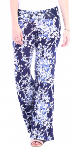 Print Palazzo Pants - Made in USA - ST61