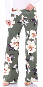 Print Palazzo Pants - Made in USA - ST86