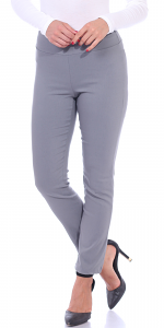 Pull On Pants For Women Ankle Length - Casual Mid Rise Stretch Office Work Pants - Slate